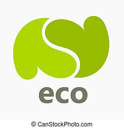 eco, cœurs, symbole