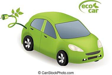 eco, car, conceito