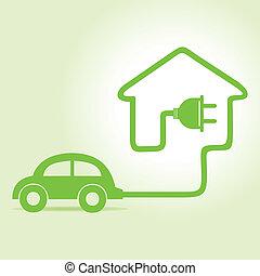 Eco car make a home icon