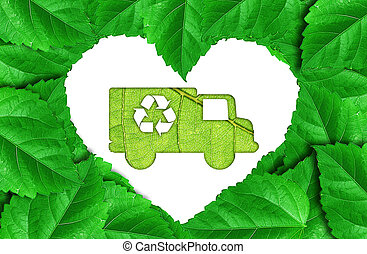 eco car make from   leaf  - eco car make from   leaf
