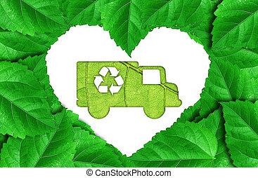 eco car make from leaf