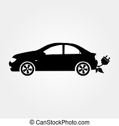 Eco car vector illustration. Eco auto