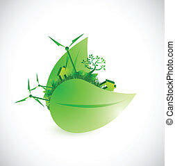 eco city concept illustration design
