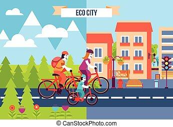Eco City Decorative Icons