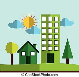 eco city green icon