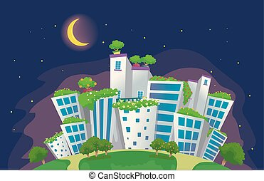 Rooftop City Garden People In A Garden On The Roof Of A