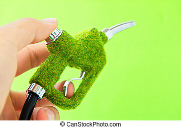 eco, combustível, bocal, concept., energia