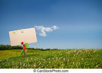 eco, communicatie, -, meldingsbord, groene, vriendelijk
