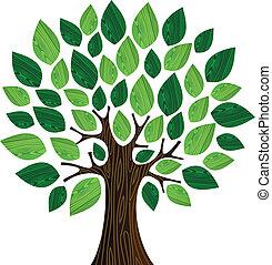 eco, concept, arbre, amical