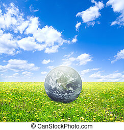 eco concept - earth image credit to visibleearth. nasa. gov...