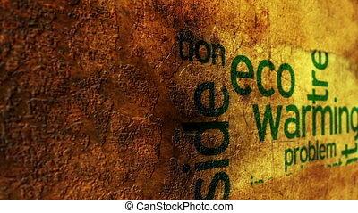 eco, concept, grunge, chauffage
