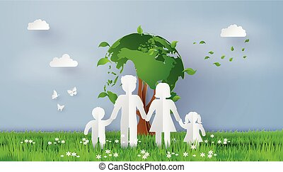 eco concept with family