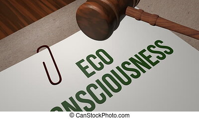 Eco-Consciousness legal concept shot clip