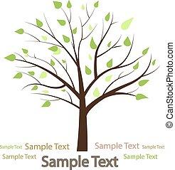 eco, créatif, vecteur, arbre., stylisé