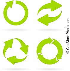 Eco cycle abstract vector symbol