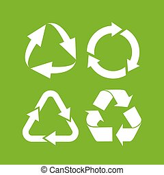 Eco cycle arrows icon