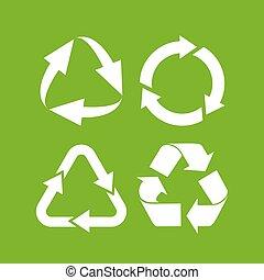 Eco cycle arrows icon