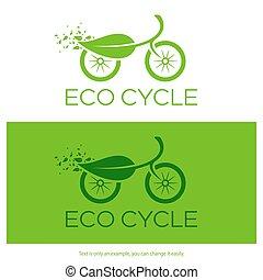 Eco cycle logo. Vector illustration.