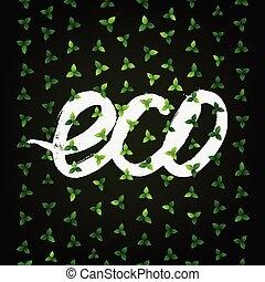 eco, dekoracyjny, tło