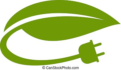 green electricity icon