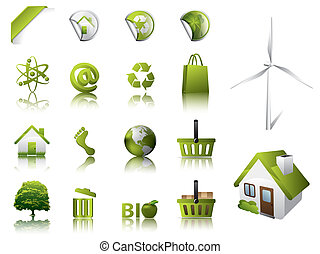Eco Design Elements and Icons