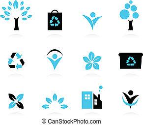 Eco design elements isolated on white