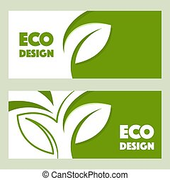 Eco design. Vector abstract design web banner template.