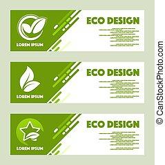 Eco design. Vector abstract design web banner template.