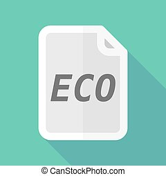 eco, document, ombre, long, texte