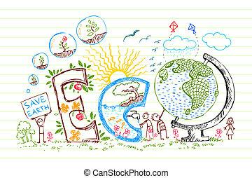eco, doodle