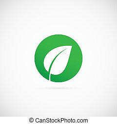 Eco Dot Abstract Vector Symbol Icon or Logo Template