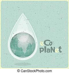 eco, eau, planète