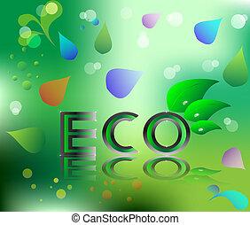eco ecology logo green leaf vector