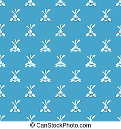 Eco eggplant pattern vector seamless blue