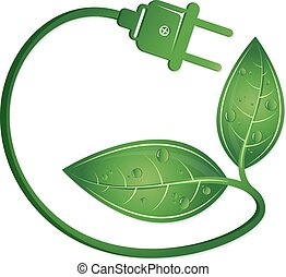 Eco electric plug symbol
