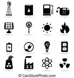 eco, energía limpia, y, ambiente