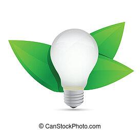 eco, energia, idéia, verde, crescendo, concept.