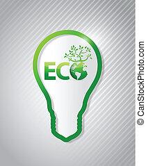 eco, energia pulita, concept., illustrazione