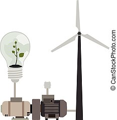 eco, energia, pulito, esposizione