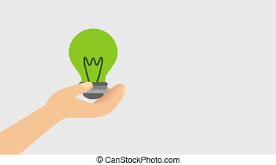 eco, energie, animation, grün