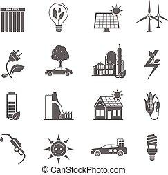 eco, energie, pictogram