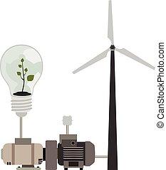 eco, energie, schoonmaken, blootstelling