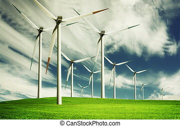 eco, energie, windmolen