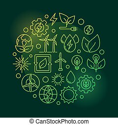 Eco Energy round green illustration