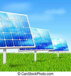 eco energy, solar panels - Eco energy concept solar panels...