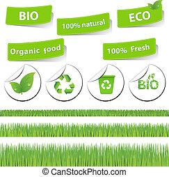 eco, ensemble, herbe