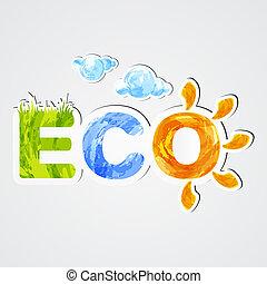 Environmental icon eco. Stickers. EPS10