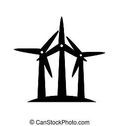 eco, eolic, ventilador, vento