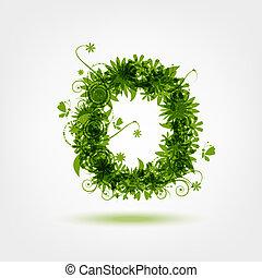 eco, este prego, desenho, letra, verde, seu
