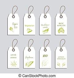 eco, etykiety, komplet, przyjacielski